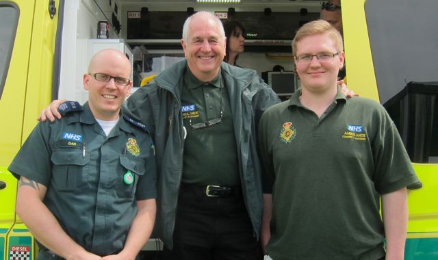 Fryern Funtasia 2014 Chandler's Ford and Eastleigh Community First Responders: Left to Right, Daniel, Dave and Jack.
