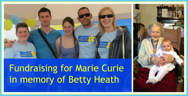 Fundraising for Marie Curie in memory of  auntie Betty. (From the left): Liz Downes, Joseph Hughes, Emily Hughes, Clive Hughes and Jayne Hughes. Fryern Funtasia 5th May 2014, Chandler's Ford.