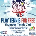 Play Tennis For Free - Thornden school 29th June 2014