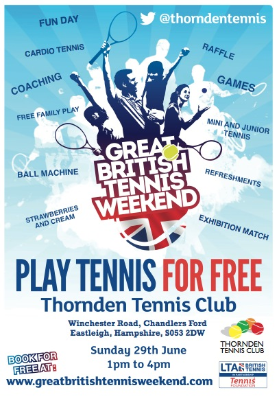 PPlay Tennis For Free - Thornden school, 29th June 2014