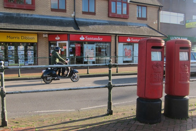 One for sorrow; two for joy. Two post boxes on Winchester Road, Chandler's Ford.