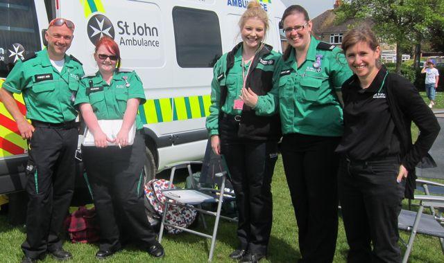 St John Ambulance at Fryern Funtasia 2014.