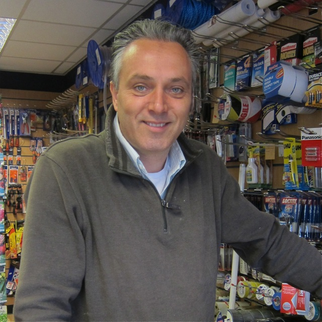 Toby Roberts, owner of D & G Hardware and Homeware.