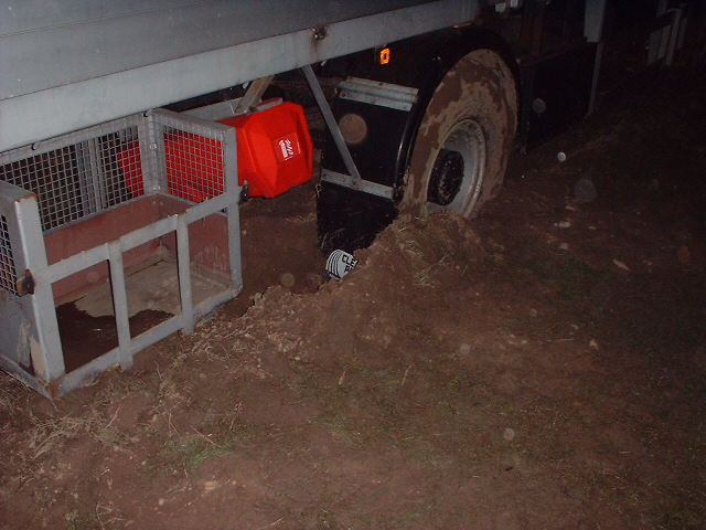 Lorries were stuck.
