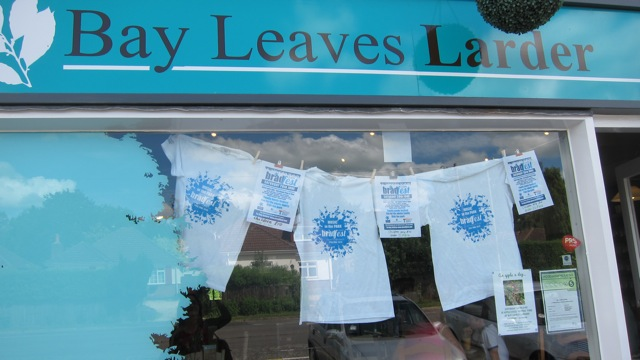 Free Bradfest t-shirt when you buy Bradfest tickets from Bay Leaves Larder.