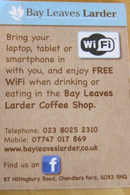 Bay Leaves Larder Free WiFi