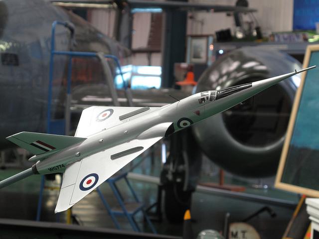 Model of Fairey Delta 2 at Tangmere. Image by John via Flickr.