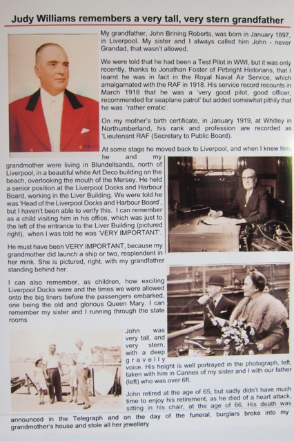 Pirbright local history.  Judy remembers her grandfather. At Pirbright Scarecrow Festival, 21st June 2014.