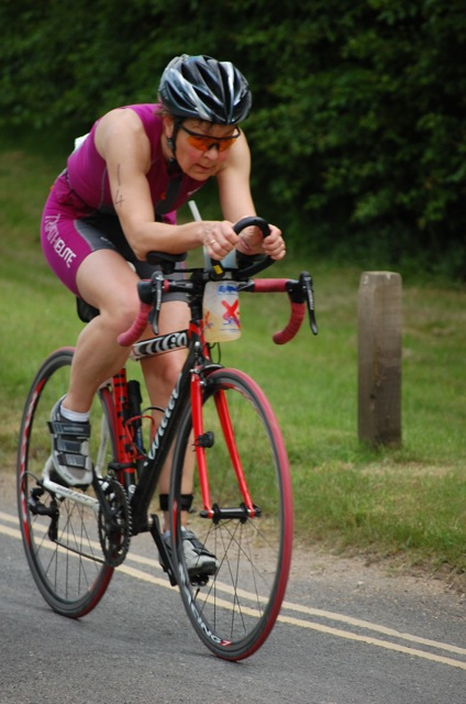 Nicole Johnson triathlon cycling.
