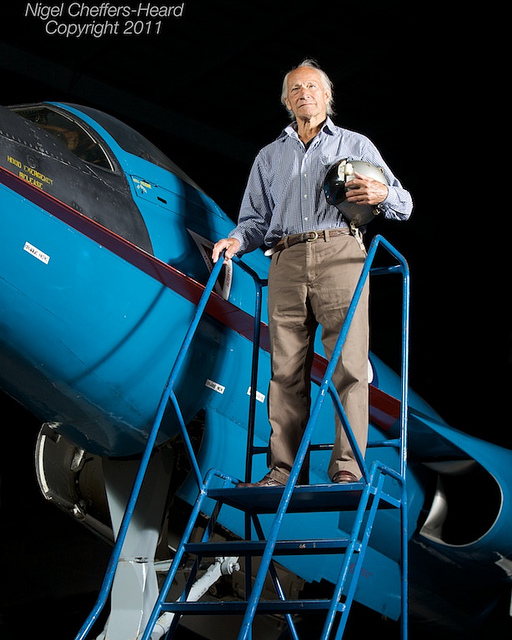 Peter Twiss and Fairey Delta 2. Image by  Nigel Cheffers-Heard via Flickr.