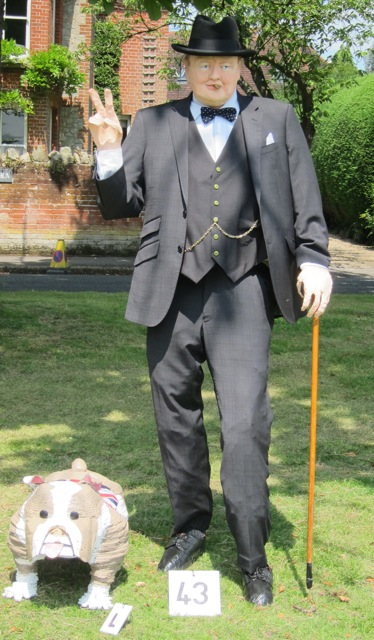 Scarecrow competition winner: Winston Churchill.