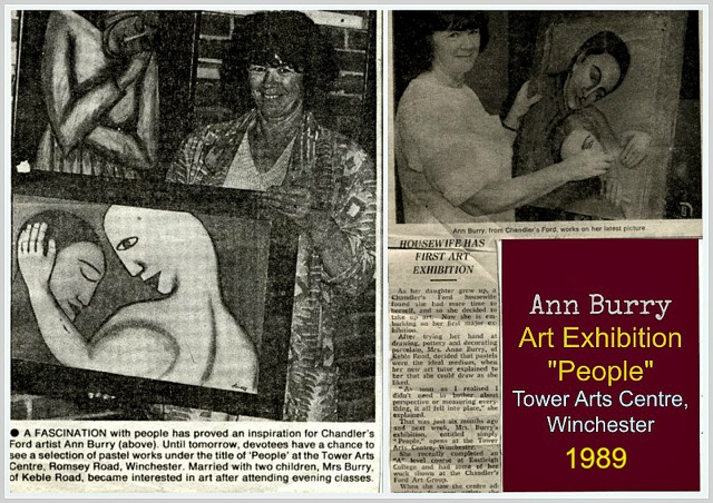 Ann Burry - my arts exhibition at Tower Arts Centre in Winchester, 1989.