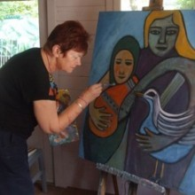 Ann Burry painting feature