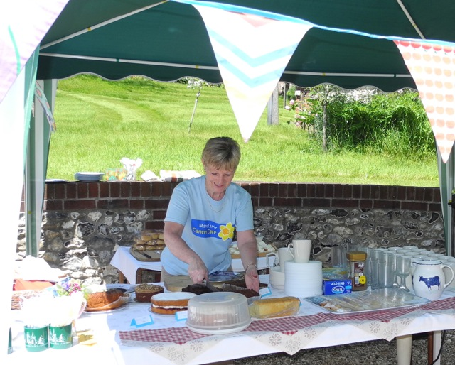 Helping with the teas at Blackdown House.