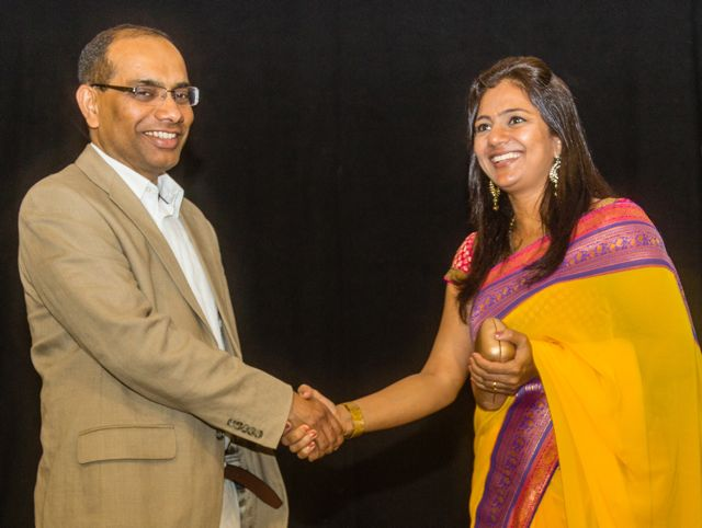 Dr Ashok Rokade and Hemalkasa director Samruddhi Porey at the Hampshire premiere.