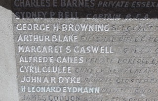 Private Arthur Blake, Chandler's Ford War Memorial.