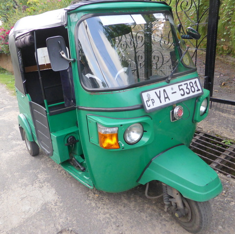 Tuk tuk in Sri Lanka.