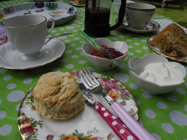 Pop up Tea Room: Lyn  has created an inviting and friendly environment for you to enjoy a cuppa and a chat.