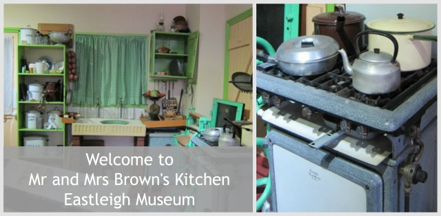 The kitchen of Mr & Mrs Brown, Eastleigh Museum, Eastleigh.