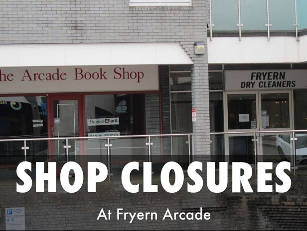 Gone were the Arcade Book Shop and Arcade Dry Cleaners in Chandler's Ford.
