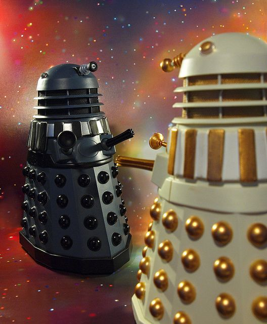 Dalek Civil War by Johnson Cameraface via Flickr.