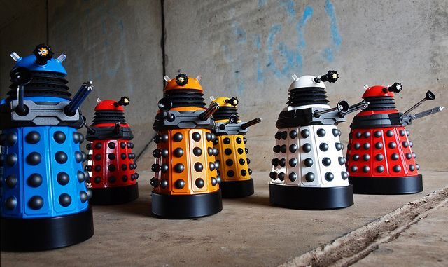 "The Daleks - image by <a href=""https://www.flickr.com/photos/54459164@N00/5669445634"">Johnson Cameraface</a> via Flickr."