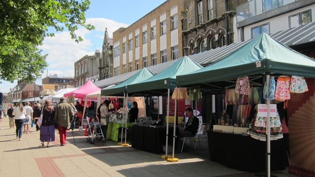 First Eastleigh Craft Market on Market Street.