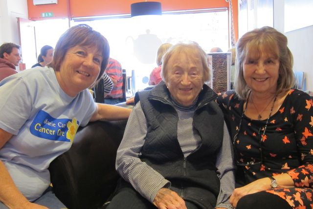 Marie Curie supporters from Chandler's Ford: (from the left): Lin, Pat and Teresa at Asante.