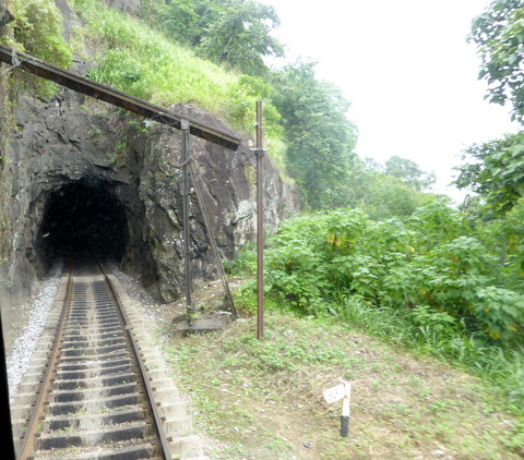 One of many tunnels on the Kandy - Colombo line