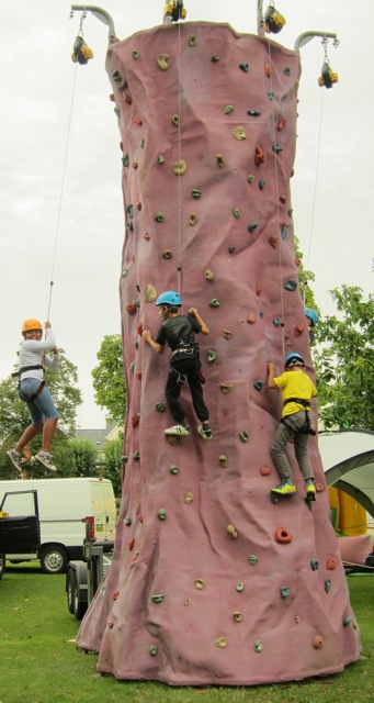 Brave children were climbing walls on Eastleigh Fun Day.