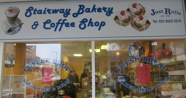 Stairway Bakery at the Fryern Arcade.