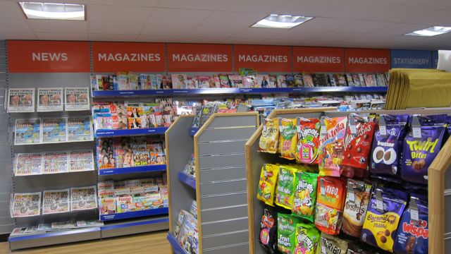 WH Smith Local: providing postal and retail services.