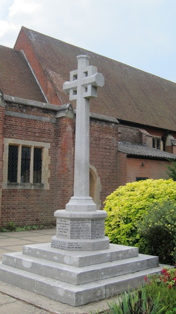 The new look of Chandler's Ford War Memorial, at St. Boniface church, Hursley Road.