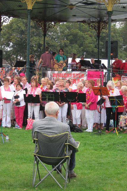Eastleigh fusion choir at Eastleigh Mardi Gras 2014.