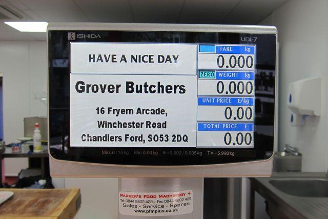 Grover Butchers: 16 Fryern Arcade, Chandler's Ford.