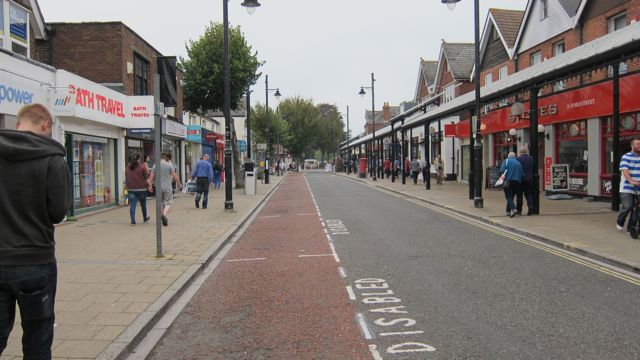 Eastleigh High Street - wider with no parking on street.