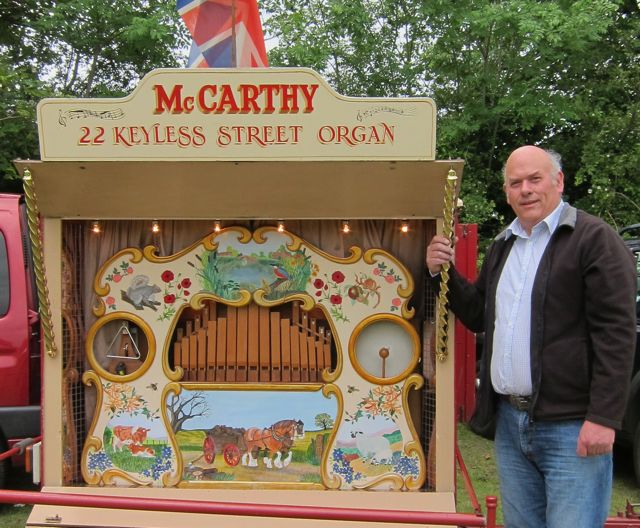 Paul McCarthy, fairground organ builder. 2012 summer fayre in Winchester.