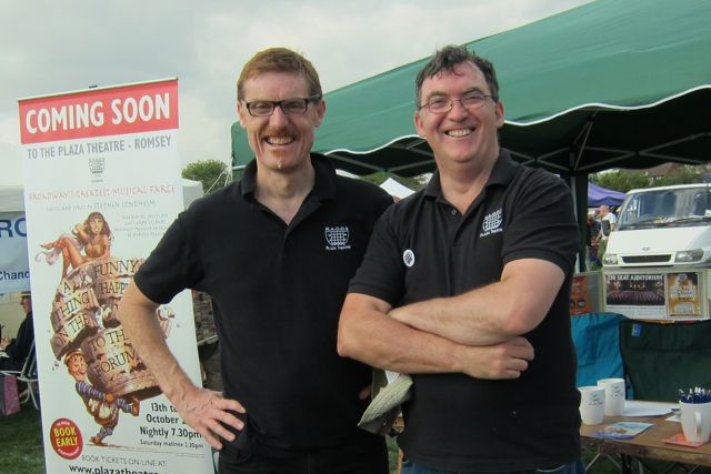 Matthew (left) and Kevin from Plaza Theatre, Romsey.