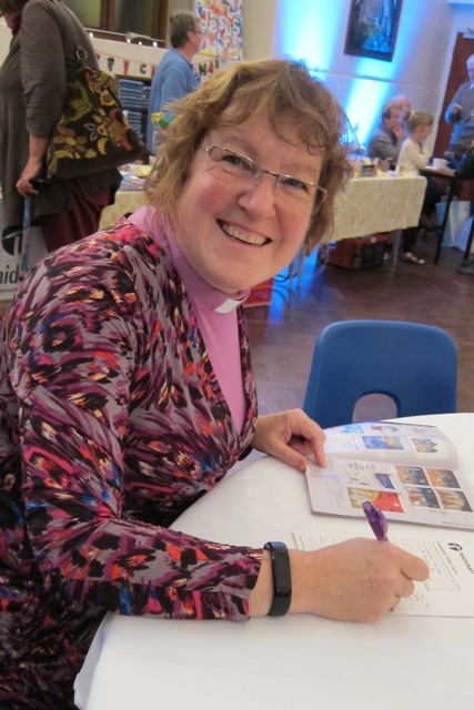 The Reverend Christine Whitehead - assistant curate of the parish church was writing her Fairtrade shopping list.