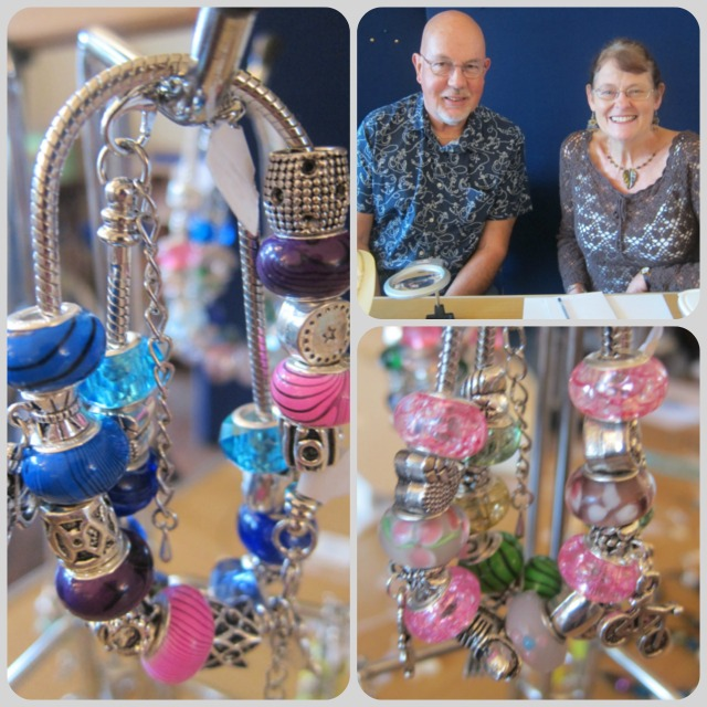 Hazel and Keith Bateman. Handmade jewellery by Keith.