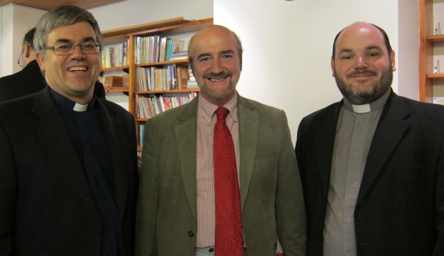 (From the left): The Reverend Dr Ian Bird from the parish church, the Reverend Bob Dibb of Vemore Church in Eastleigh, and The Reverend Tim Searle of the United Reformed Church.