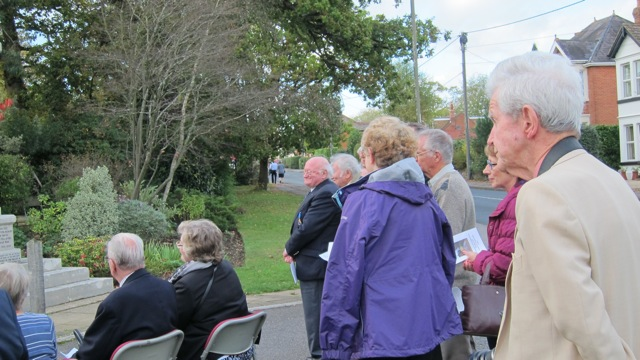 Former Councillor John Caldwell (far right) and Leslie Coney (left, in light jacket).