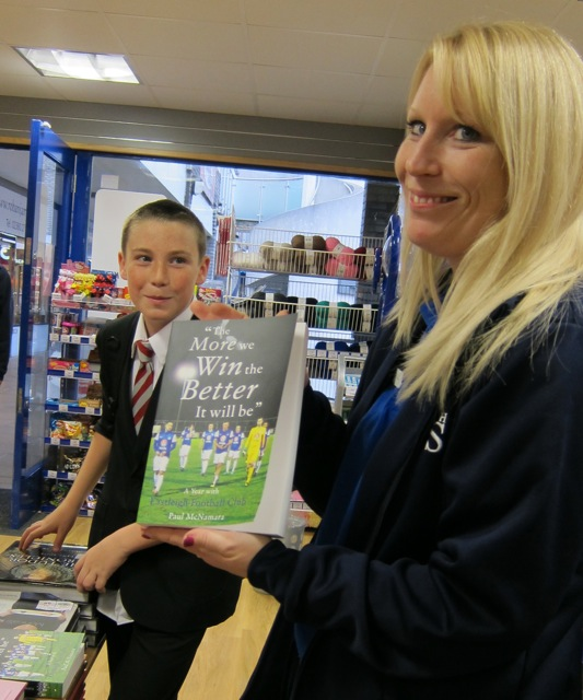 Chandler's Ford WH Smith supervisor Rachel Smith and her footballer son, Joshua Hoey.