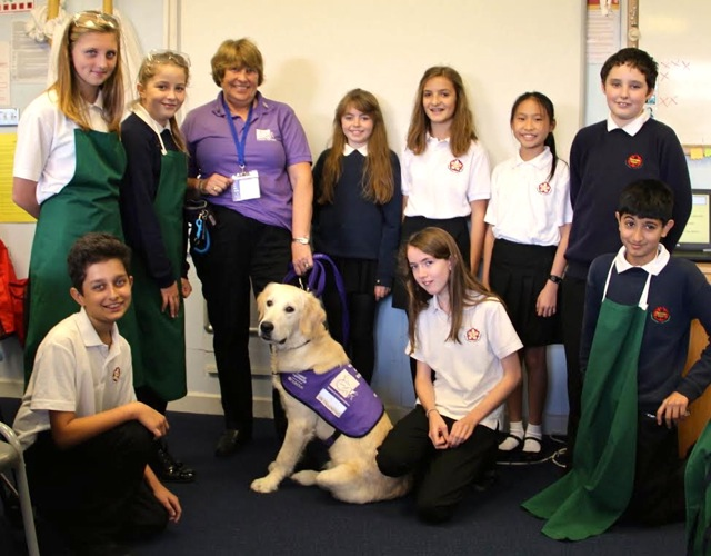 Thornden school students raise money to support Canine Partners.