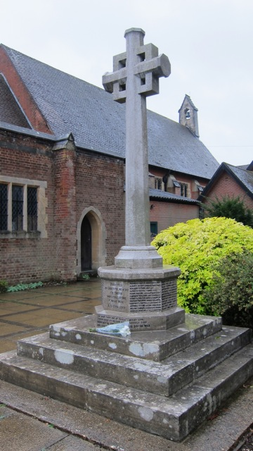 Chandler's Ford War Memorial: Re-dedication service on 19th October 2014.
