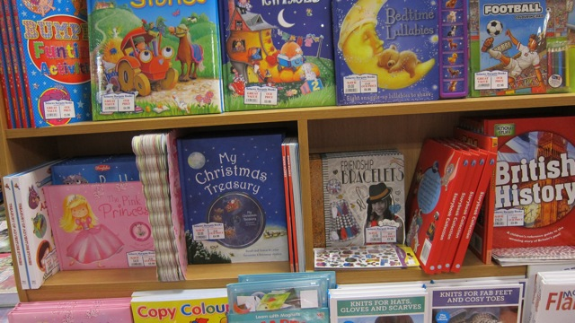 Picture books at WH Smith in Chandler's Ford.