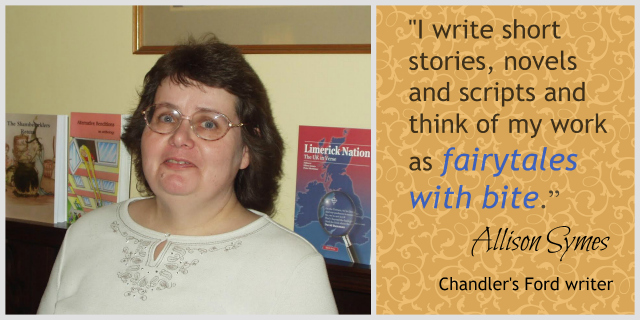 "Allison Symes from Chandler's Ford writes ""Fairytales with Bite""."