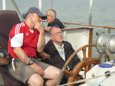 Wheelchair user Robert takes the helm for the first time under Andy's guidance.
