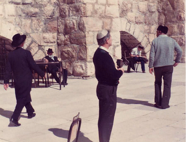 Brian Green: at the Western (Wailing) Wall in Jerusalem.