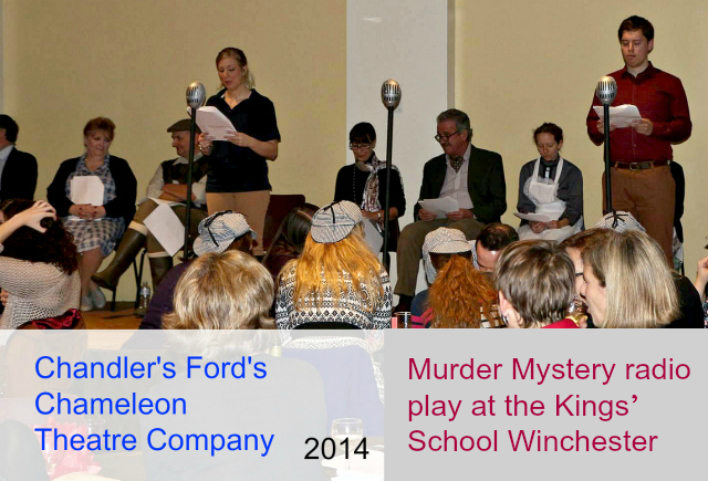 Chameleon Theatre Company staged a Murder Mystery radio play at The Kings' School in Winchester.
